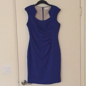 Cobalt Blue Calvin Klein Cocktail Dress Size 10